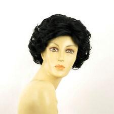 Perruque femme courte bouclée noir JULIETTE 1B