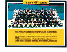 1981 PITTSBURG STEELERS  TEAM  8X10 PHOTO SWANN HARRIS  FOOTBALL NFL AFL