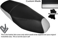 WHITE & BLACK CUSTOM FITS PEUGEOT TWEET 125 X 11-14 DUAL LEATHER SEAT COVER