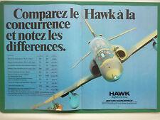 5/1980 PUB BRITISH AEROSPACE AVION HAWK RAF TRAINER ORIGINAL FRENCH AD