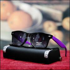 New Men's Black Sunglasses Retro Sun Shades Fashion Designed Vintage 80's Purple