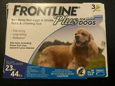 New listing Frontline Plus Flea and Tick Treatment For Dogs 23-44 lbs 3 Doses