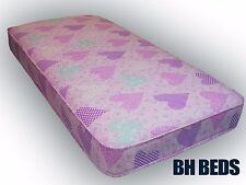 "Girly Pink luxury With improved filling Mattress Shorty 2ft6"" 75 x 175cm"