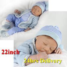 Realista Muñeca Bebé Niño Reborn silicona recién nacido realista juguete de regalo de Navidad Navidad