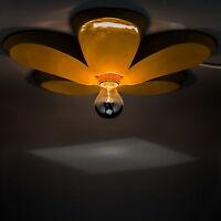 Deckenlampe Wohnzimmer Blumenform Deckenleuchte Gelb Retro Schlafzimmer Lampe