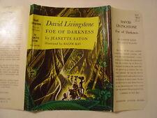 David Livingstone, Foe of Darkness, Jeanette Eaton, Dust Jacket Only