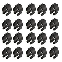 20 Pcs Fishing Pole Rod Holder Clips Black 16Mm Inside Dia Fishing Rod Stor E3K7