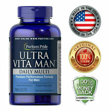 Puritan's Pride High Potency Ultra Vita Man Time Release 90 Coated Caplets