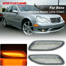 For 2001-2007 Mercedes W203 C Class Side Marker Light Lamp Front LED Bar Bumper