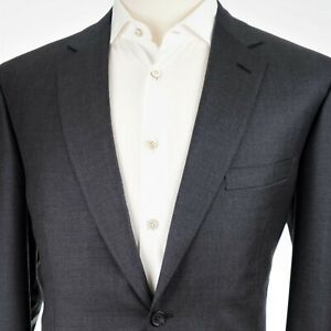 NEW $4,995 Brioni 'Colosseo' 2 Button Flat Front Charcoal Men's Suit US 44R