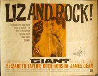 GIANT half sheet movie poster 22x28 R63 JAMES DEAN ELIZABETH TAYLOR ROCK HUDSON