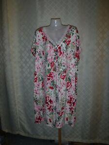 Size Plus Short Sleeve Sleepshirt 4X Croft & Barrow Multi Pink Green Floral NWT