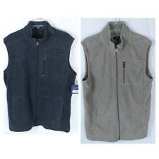 Croft & Barrow Fleece Vest Full Zip 3 Pocket Lot of 2 Size Medium NEW Tan Gray