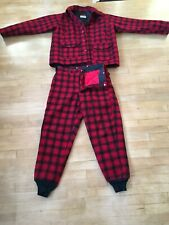 Woolrich Red/Black Plaid Wool Coat and Wool Pants, Large--44, Insulated.