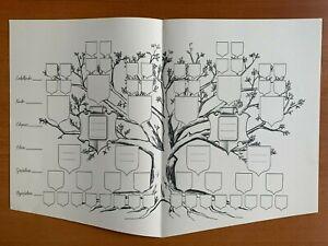 Stammbaum Ahnentafel Familienstammbaum Familienchronik Genealogie Din A4 bzw. A3