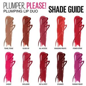 Maybelline Plumper, Please! Shaping Lip Duo-8 colors to choose from