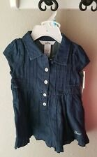 NWT Guess Baby Denim Jean Dress With Diaper Cover Size 6-12 Months Retail $42.50