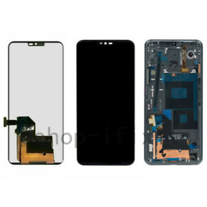 OEM LG G7 ThinQ G710 Black LCD Touch Screen Digitizer Replacement Assembly Frame