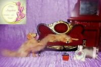 Golden retriever dog OOAK 1:12 realistic dollhouse miniature Handsculpt handmade