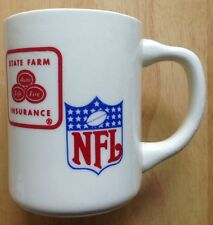 1970s Nfl State Farm Insurance Company Coffee Mug, Made In Usa, Vintage
