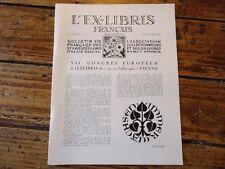 L' EX LIBRIS FRANCAIS N° 61 CONGRES EUROPEEN VIENNE 1960
