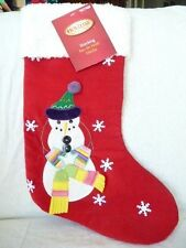 Holiday Living Snowman Stocking with Snowflakes