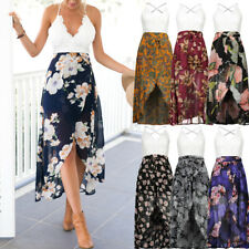 Womens Maxi Boho Floral Summer Beach Long Dress Skirt Evening Cocktail Party