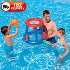 Pool Basketball Set Hoop & Ball Inflatable Portable Swimming Pool Game Toy Rings