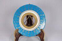 Vintage Blue Ornate Gilt Decoration Brass Insert Picture Photo Frame China Plate