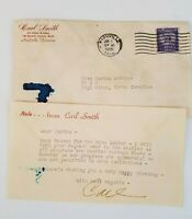 Carl Smith Country Singer Letter and Envelope Postmarked 1955