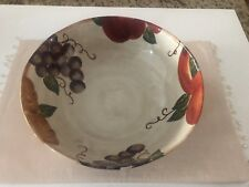 "Tabletops Unlimited Venetian Hand Painted 12"" Large Salad/Fruit/Pasta Bowl, NWT"