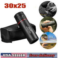 30x25 Hd Mini Portable Focus Telescope Optical Monocular Outdoor Kiking Us