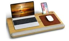 New listing Bamboo Lap Desk with Vent Holes, Built in Mouse Pad Fits up to 17 Inch Laptops