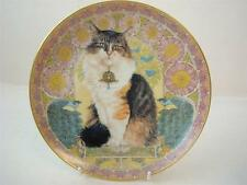 DANBURY MINT LESLEY ANNE IVORY CATS AROUND THE WORLD AGNEATHA IN FRANCE PLATE