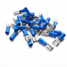 20 Azul Mujer 6.3 mm Conector Plano terminales de crimpeado aislados Cableado Eléctrico