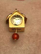18K Two Tone Gold Cuckoo Clock Bird House Pendant Charm 5.3 Grams