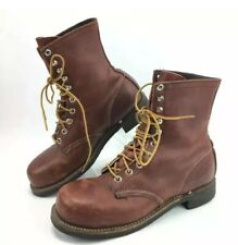 RED WING Heritage Steel Toe Boots 1970's Vintage 2302 Mens 5.5 / Womens 7 B RARE