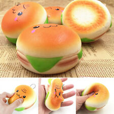 10CM Sesame Squishy Hamburger Phone Straps Soft Bread Simulation Bun Key Rings