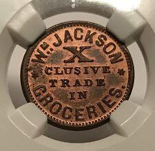 Jackson Mi525C-2a R-5 Ngc Ms-64 Rb - Wm. Jackson Groceries - Very Rare Rb Color