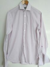 "JAEGER London business shirt size 15""--MINT--100%cotton white/purple double cuff"