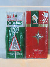 vintage christmas tree tinsel icicles 2 boxes 1000 strands ea made in usa