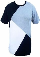 Color Block Mens Mesh Suede T-Shirt New Urban Street Wear Fashion Tee TS679