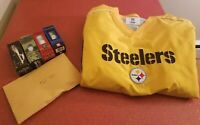 Pittsburgh Steelers NFL Classic Gold Steelers XL Golf Pullover Jacket Package