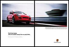Porsche Cayenne S Titanium Edition 2-pg print ad 2006 Fresh from Leipzeig