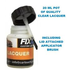 20ml pot of clear lacquer paint top coat protective finish with lid brush