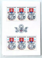 Slovakia Sc 420 NH Minisheet of 2003 - Independency