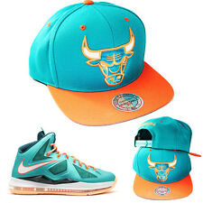 Mitchell & Ness NBA Chicago Bulls Snapback Hat Lebron 10 MiamiI Dolphins Cap