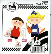 Stamping Station FC  16589 - Track Stick Kids - Scrapbooking Die Cuts