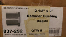 "New listing (Box of 5) 2-1/2""x2"" Reducer Bushing (SpgxS) Gf Pvc Sch 80 P/N 837-292"