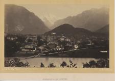 Garcin, Suisse, Interlaken et la Jungfrau Vintage Albumen Print Tirage albumin